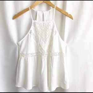 Forever 21 white lace detail camisole
